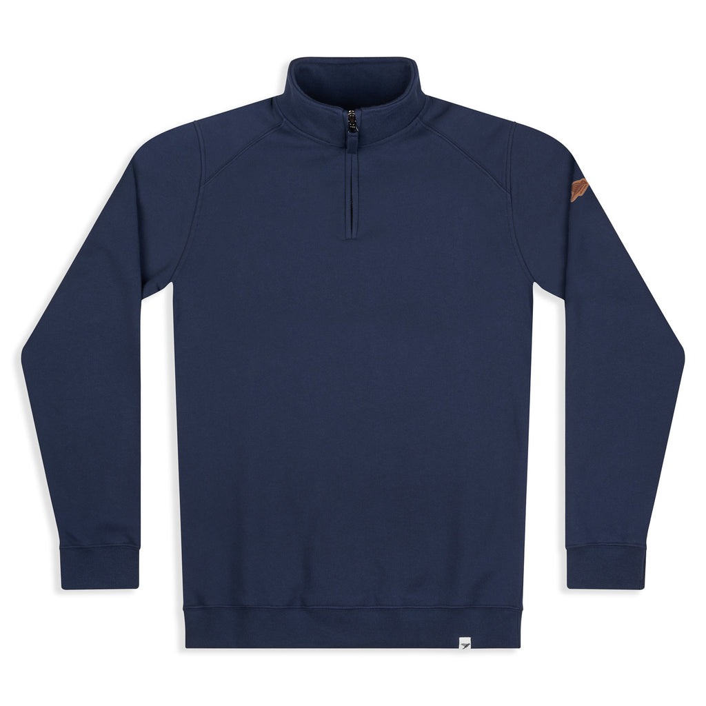 Silverstick Mens Nevis Organic Cotton Quarter Zip Sweat Navy Front