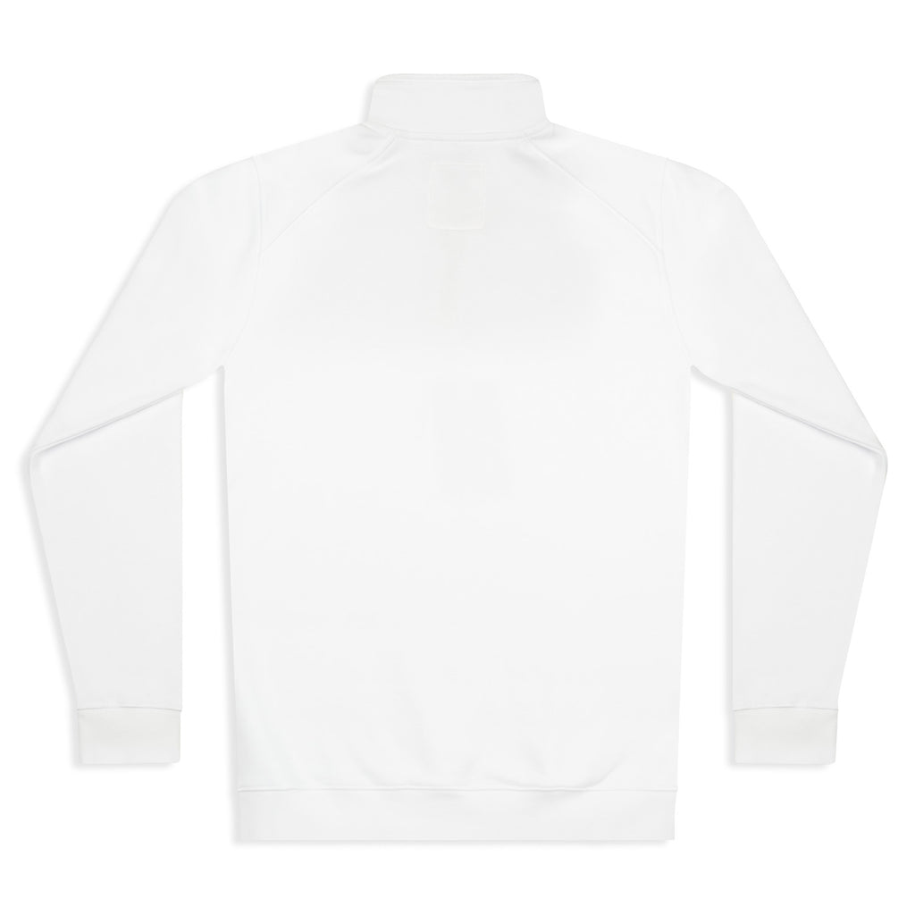 Silverstick Mens Nevis Organic Cotton Quarter Zip Sweat White Back