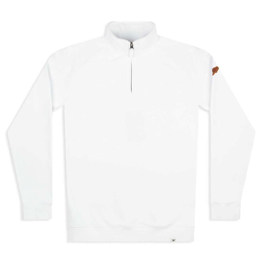 Silverstick Mens Nevis Organic Cotton Quarter Zip Sweat White Front