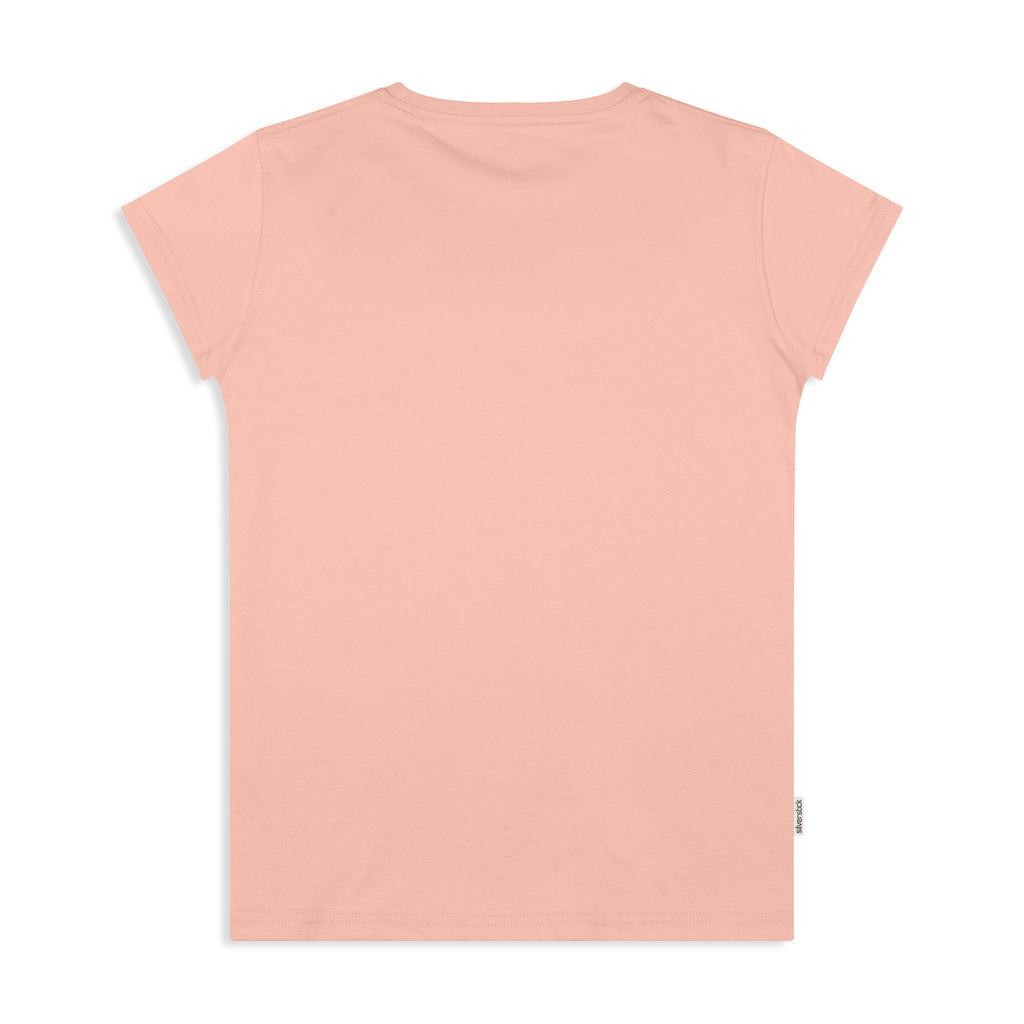 silverstick womens adventure organic cotton t shirt antique pink back