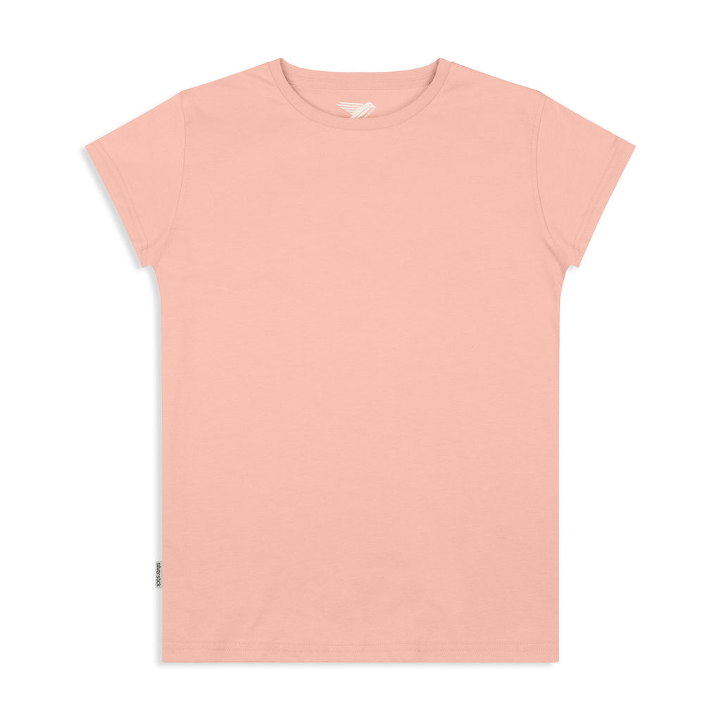 silverstick womens adventure organic cotton t shirt antique pink front