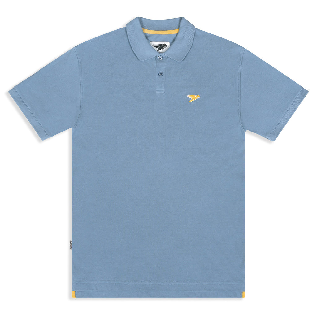 Silverstick marco organic cotton polo shirt faded denim