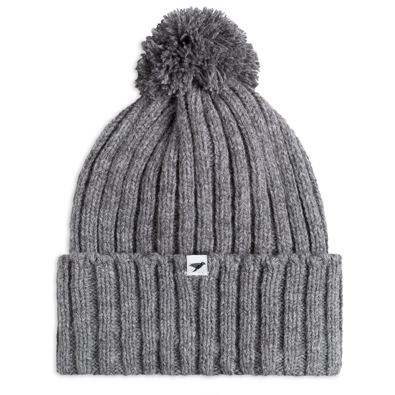 Silverstick Jefferis New Wool Bobble Hat Grey