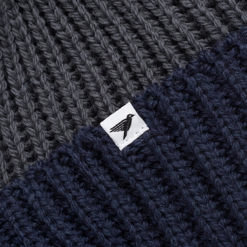silverstick merino wool snowdon charcoal bobble hat label