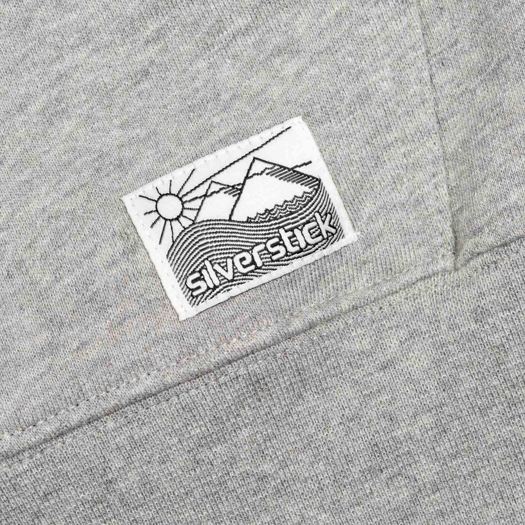 silverstick organic cotton zip hoodie vikafjell grey marl patch label