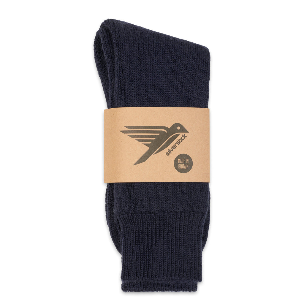 Silverstick Natural Wool British Hiking Sock Navy