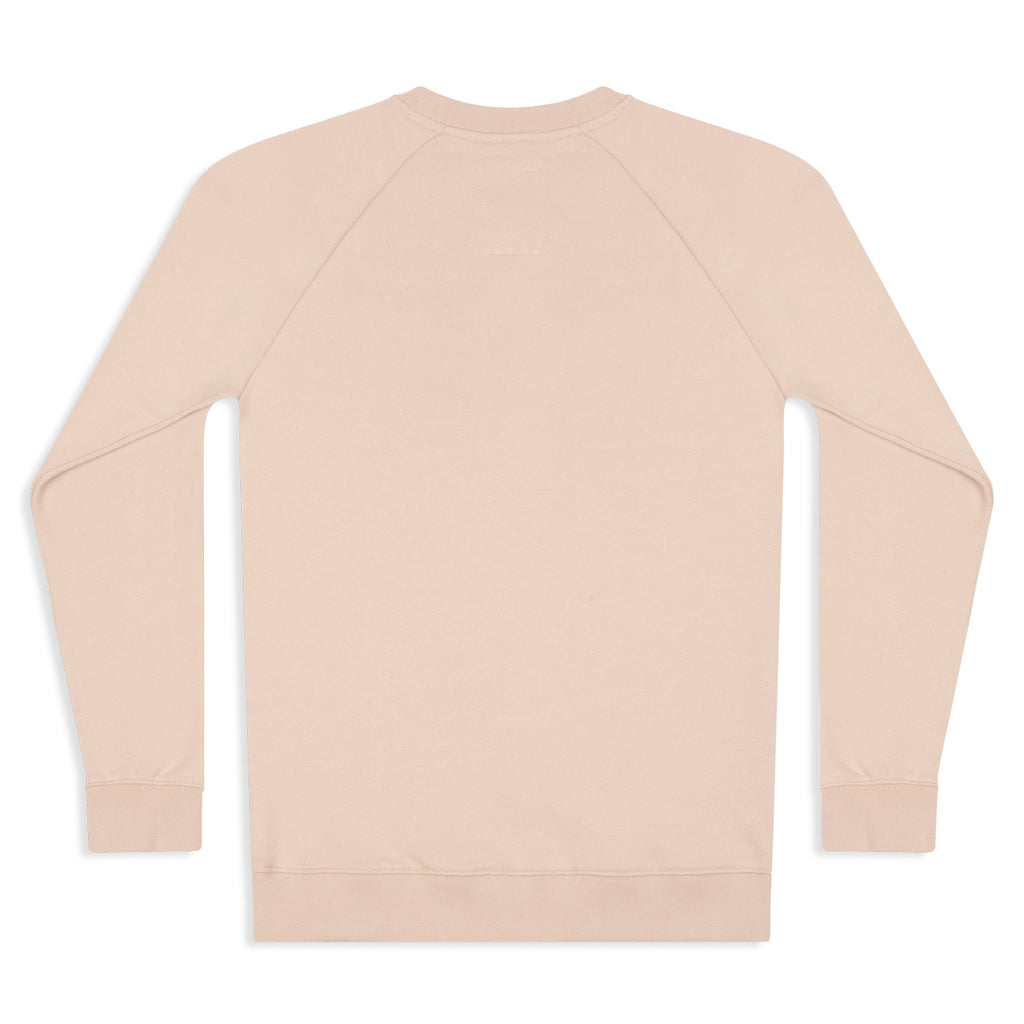 Silverstick Womens Beau Organic Cotton Sweatshirt Faded Pink Back