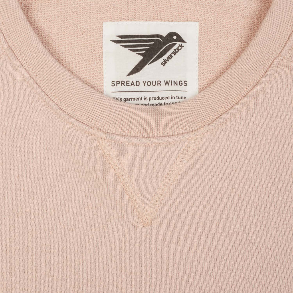 Silverstick Womens Beau Organic Cotton Sweatshirt Faded Pink Label