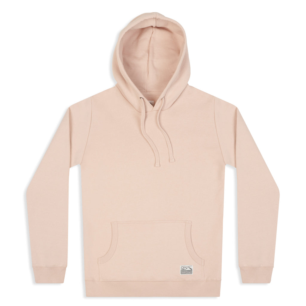 silverstick womens organic cotton hoodie lancelin faded pink front
