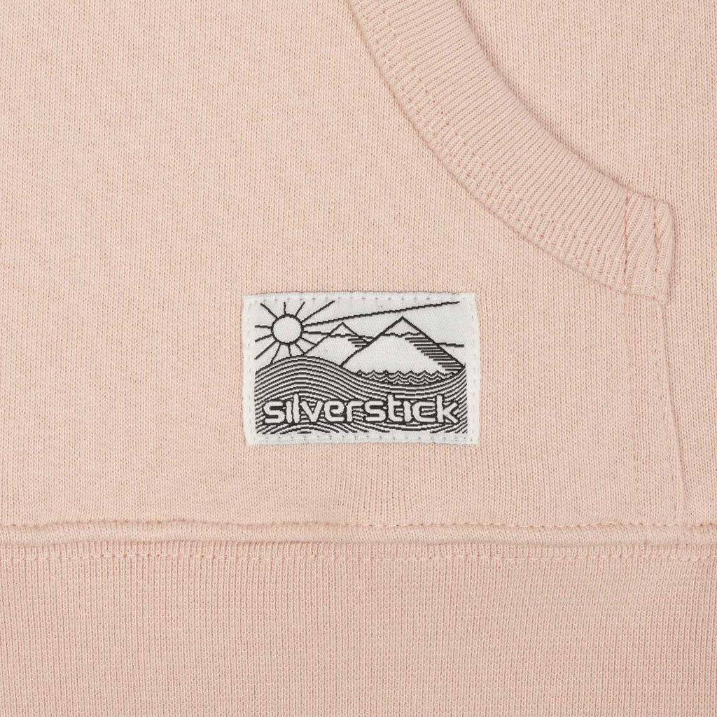 silverstick womens organic cotton hoodie lancelin faded pink label