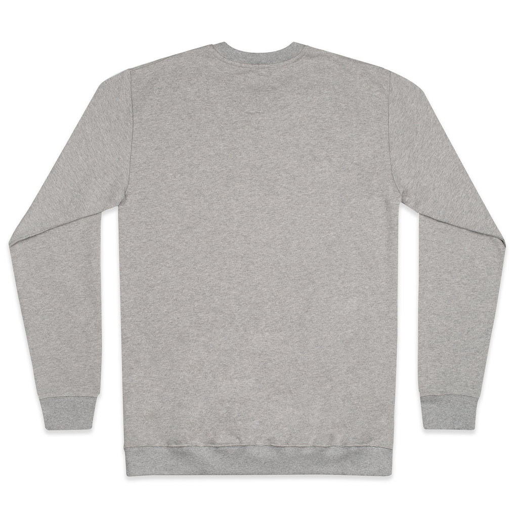 silverstick mens organic cotton sweat arugam logo ash marl back