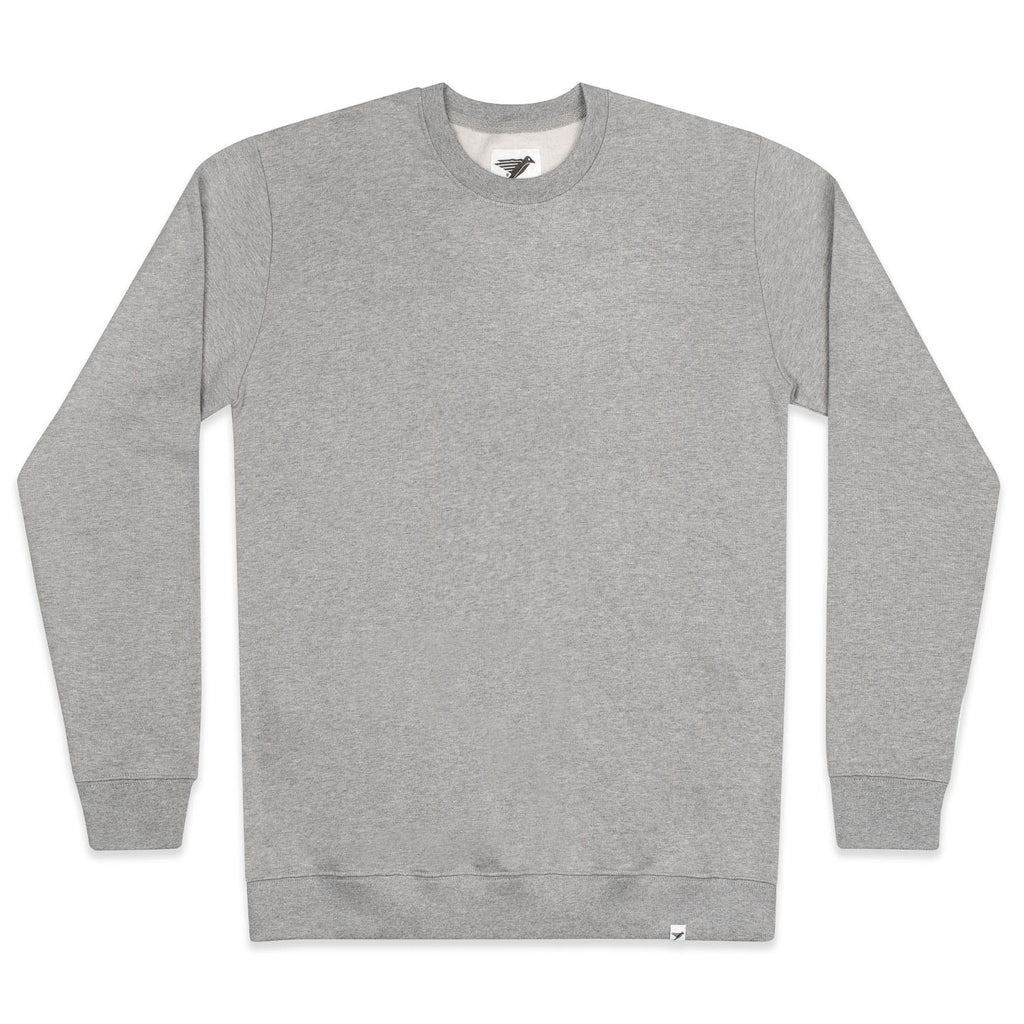 silverstick mens organic cotton arugam ash marl sweat front