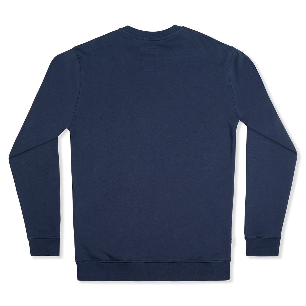 silverstick mens organic cotton sweat arugam logo navy back