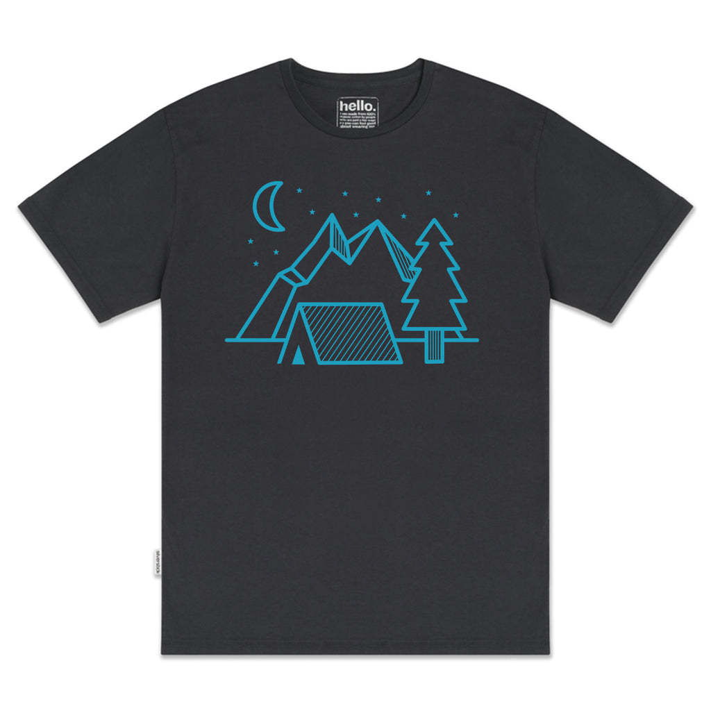 silverstick mens organic cotton night camp charcoal tee