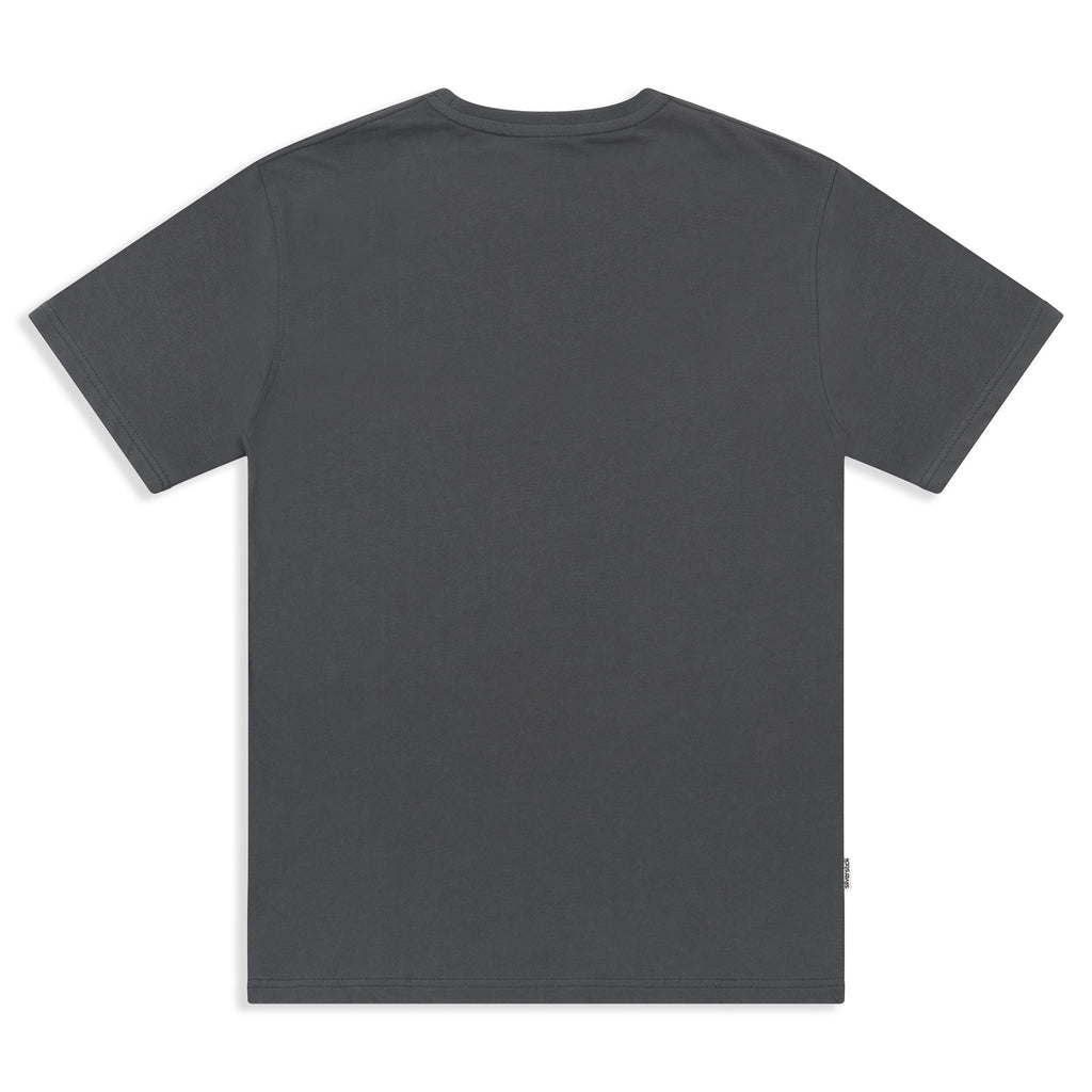 Silverstick Mens Adventure Organic Cotton T Shirt Gun Metal Back