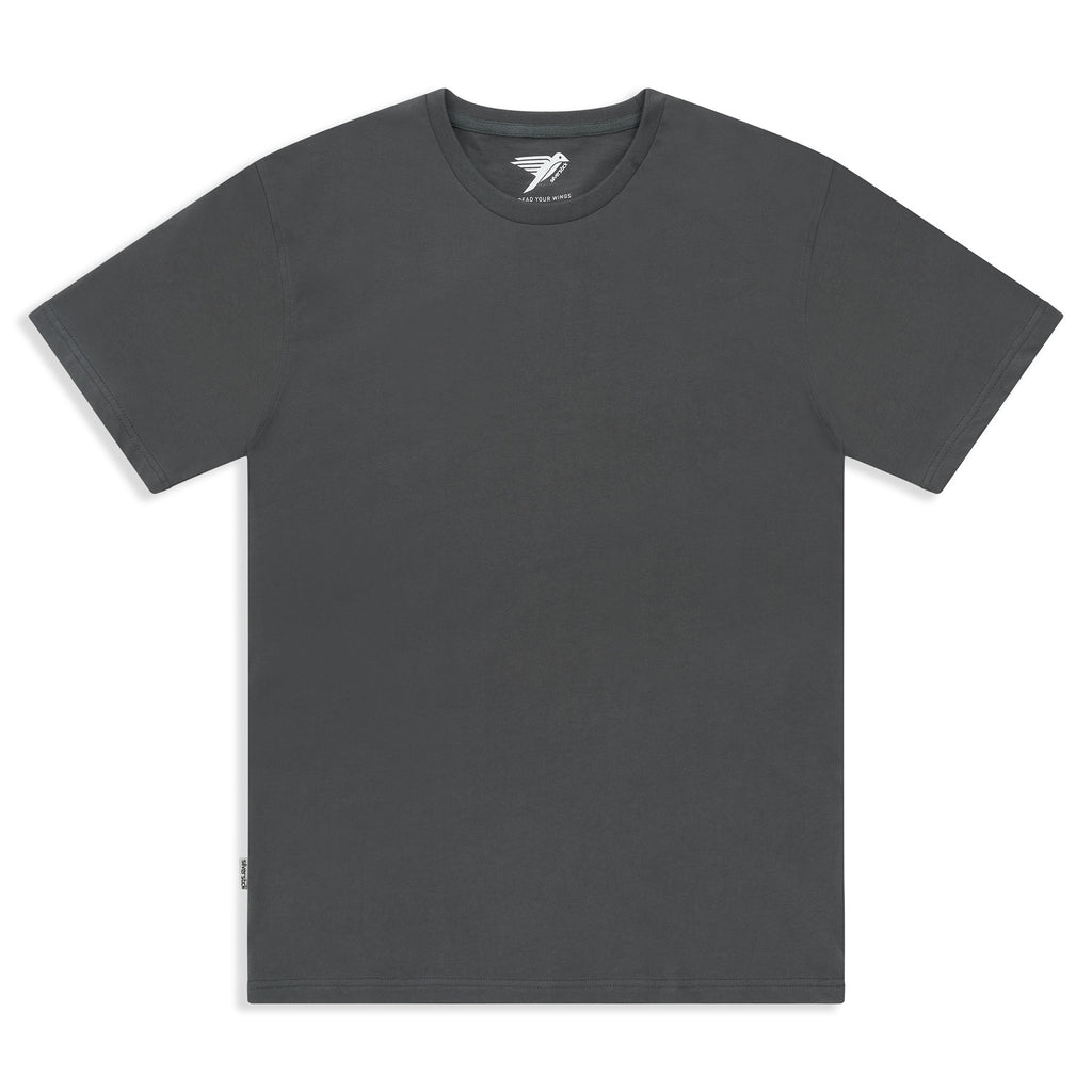 Silverstick Mens Adventure Organic Cotton T Shirt Gun Metal Front
