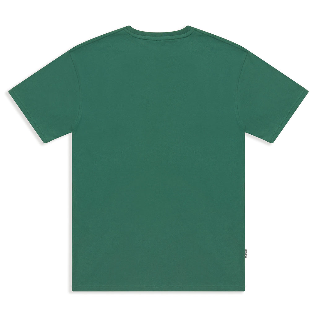silverstick mens organic cotton forest division hunter green tee back