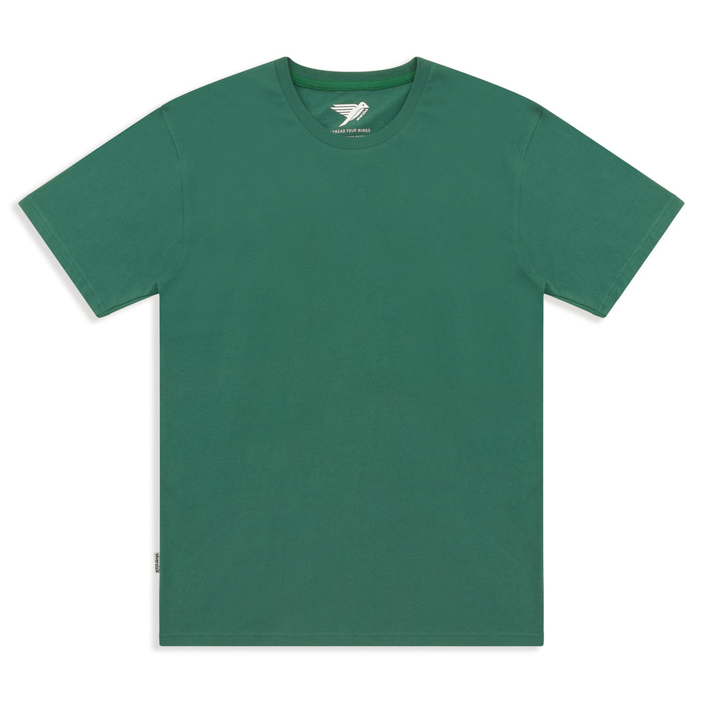 Silverstick Mens Adventure Organic Cotton T Shirt Hunter Green Front