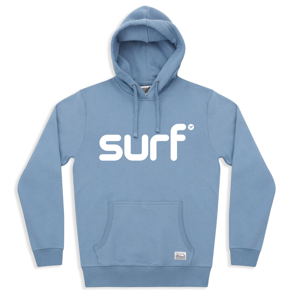 silverstick mens organic cotton hoodie surf faded denim front