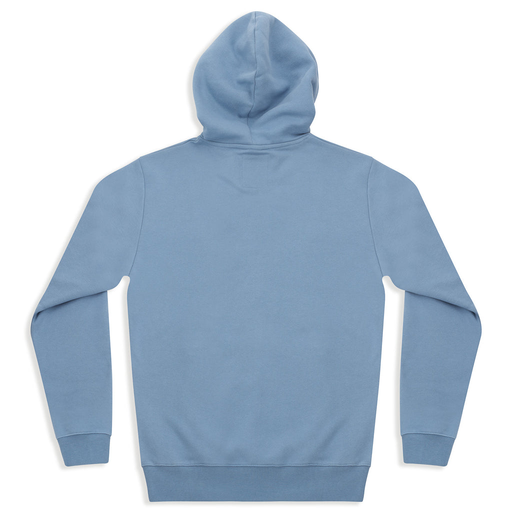 silverstick mens organic cotton hoodie ellerton faded denim back