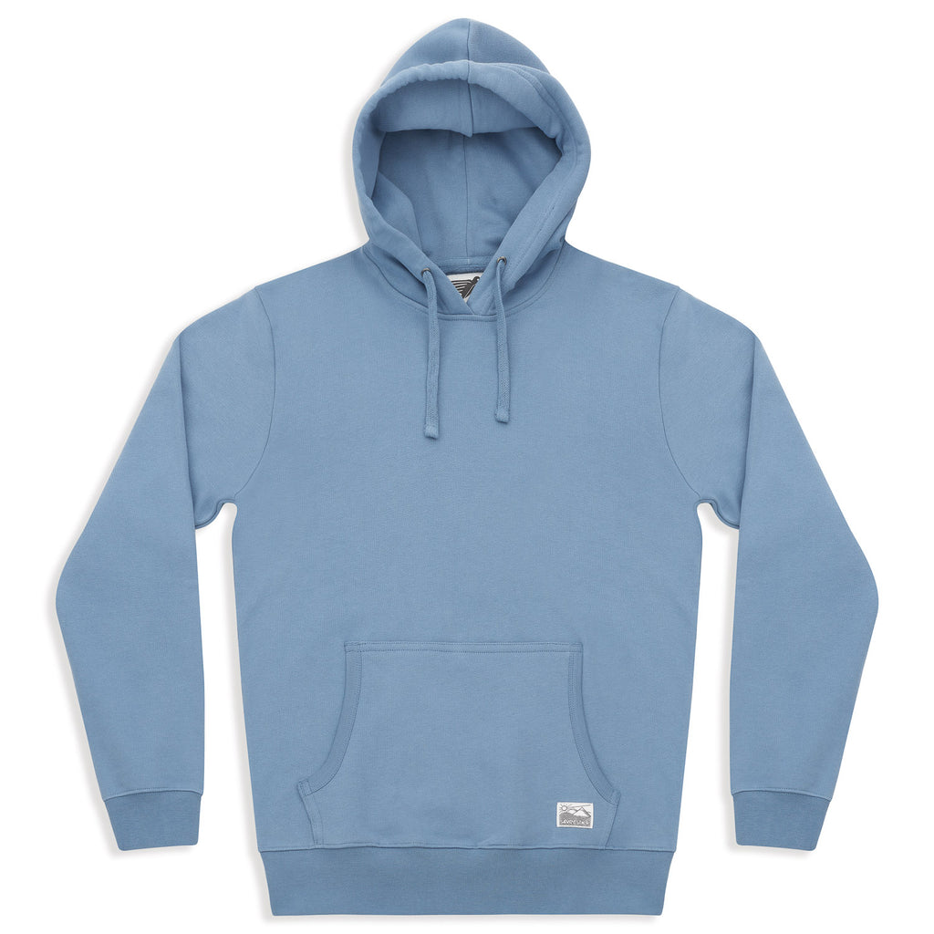 silverstick mens organic cotton hoodie ellerton faded denim front