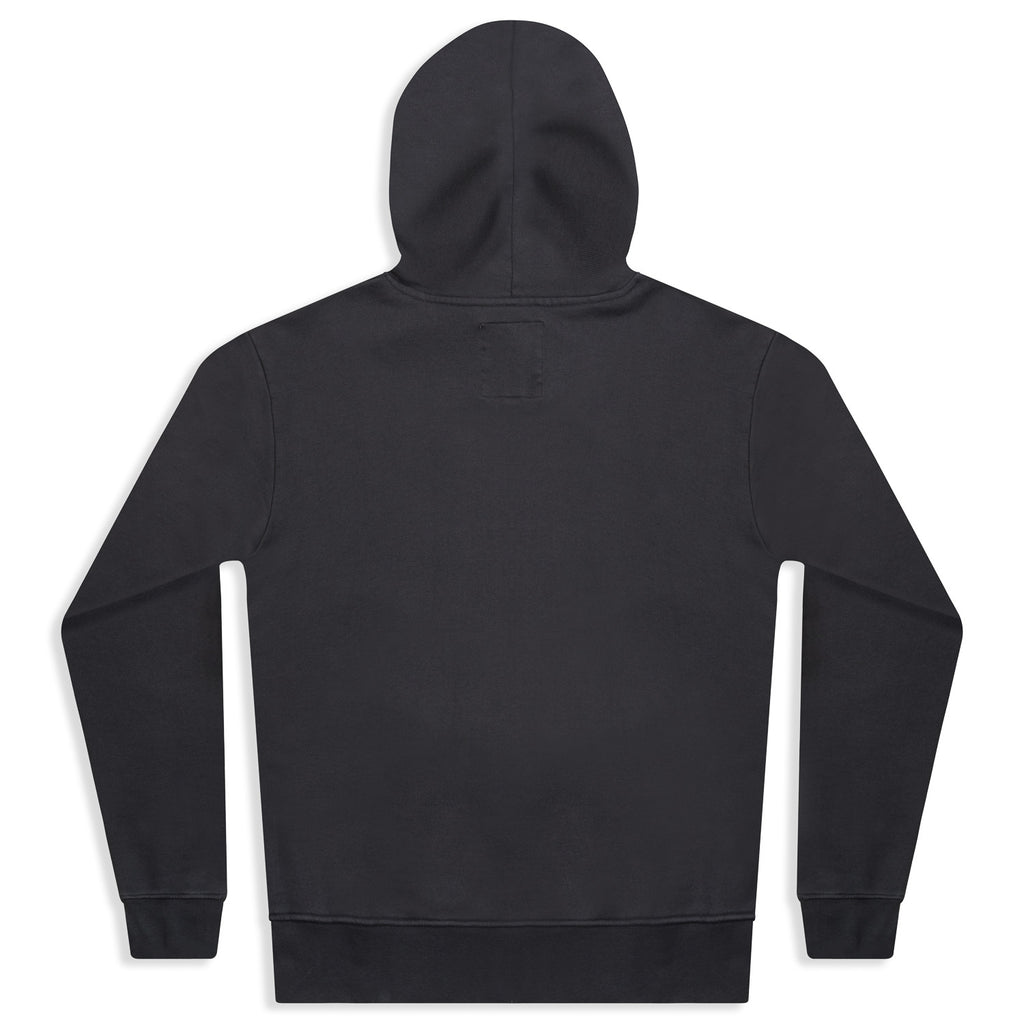 silverstick mens organic cotton hoodie wave charcoal back