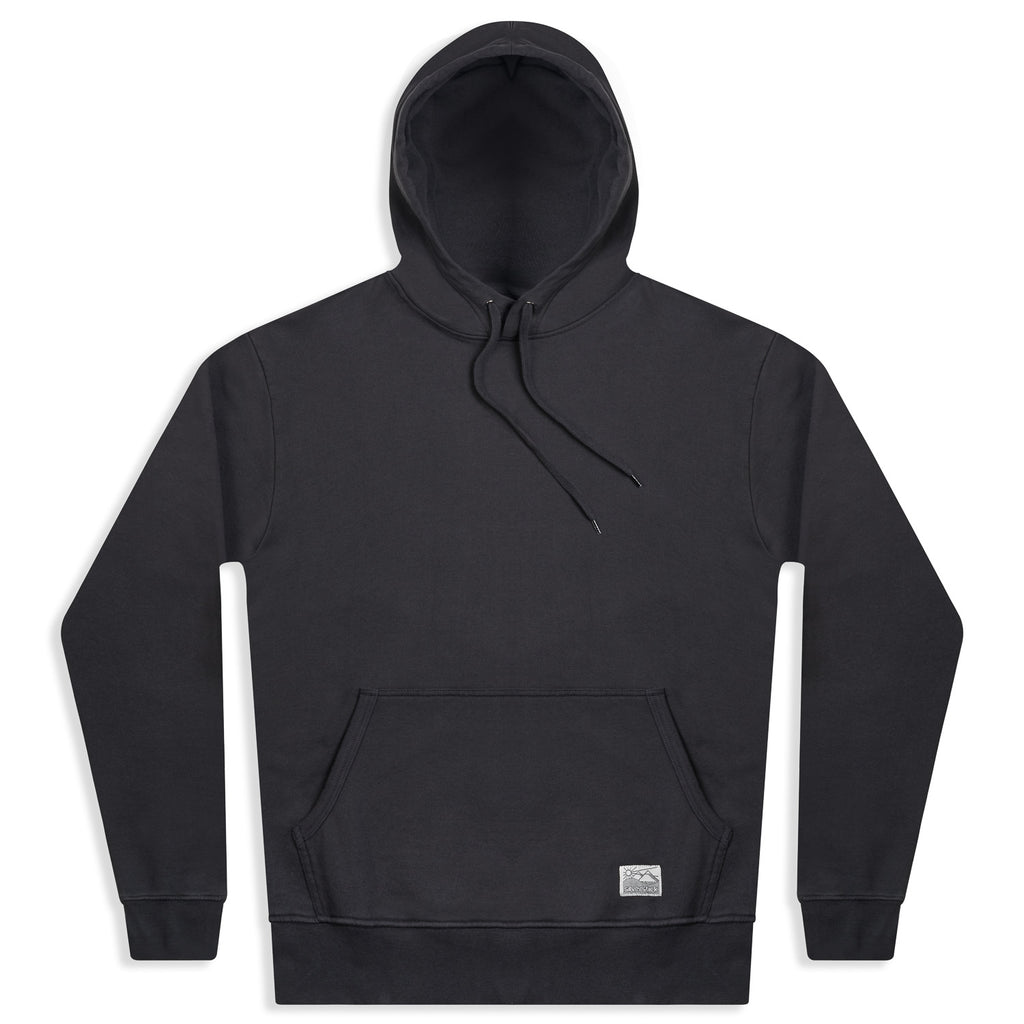 silverstick mens organic cotton hoodie ellerton charcoal front