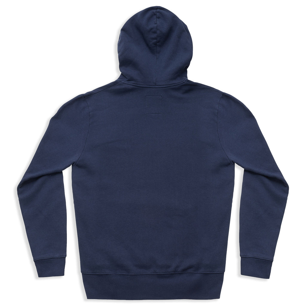 silverstick mens organic cotton hoodie logo navy back