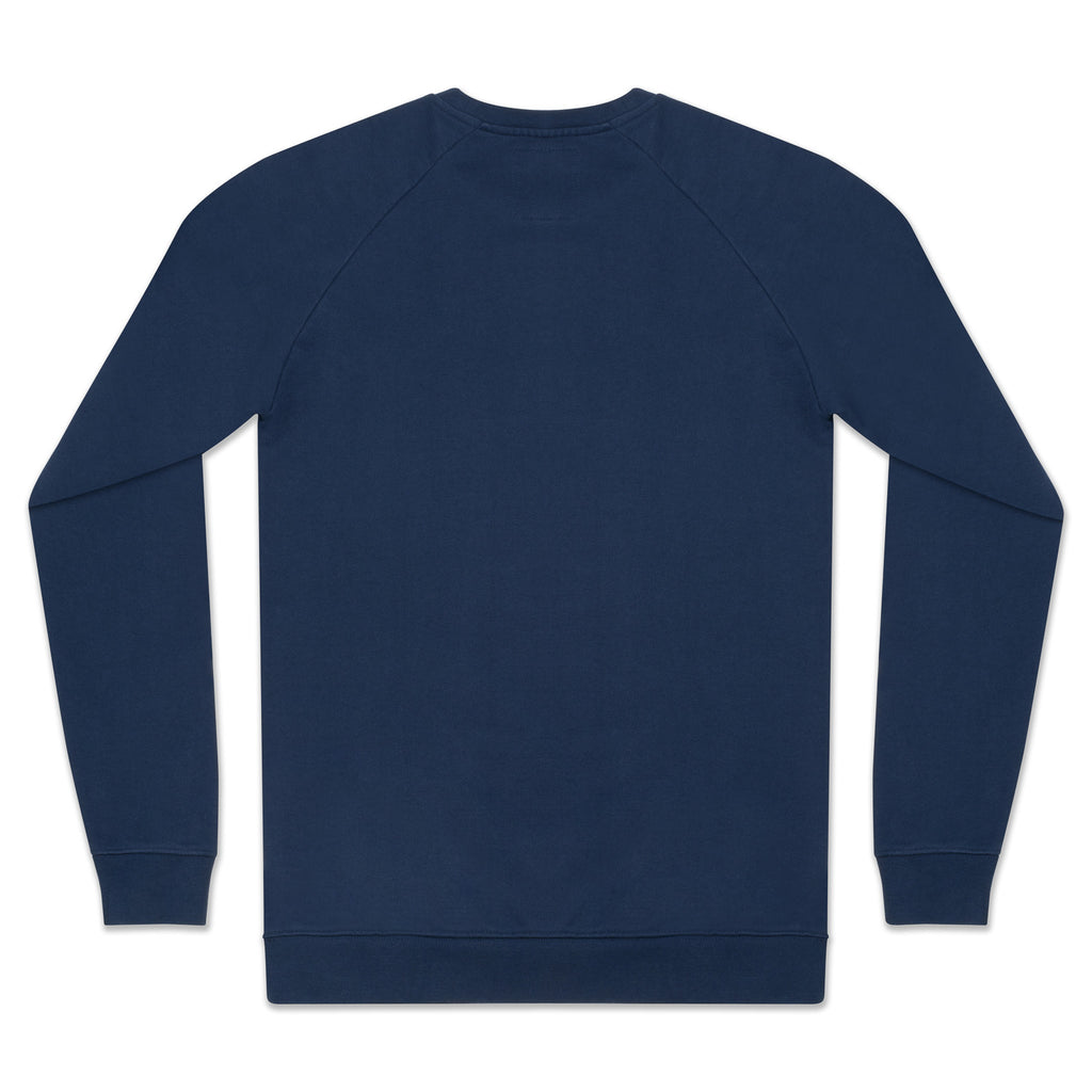 silverstick mens organic cotton hoodie nias navy back