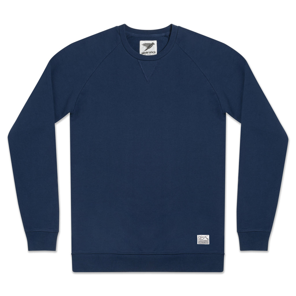 silverstick mens organic cotton hoodie nias navy front