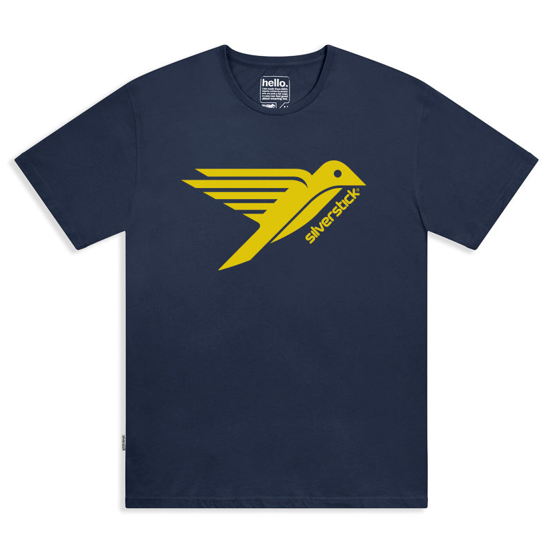 silverstick mens organic cotton original logo navy t shirt