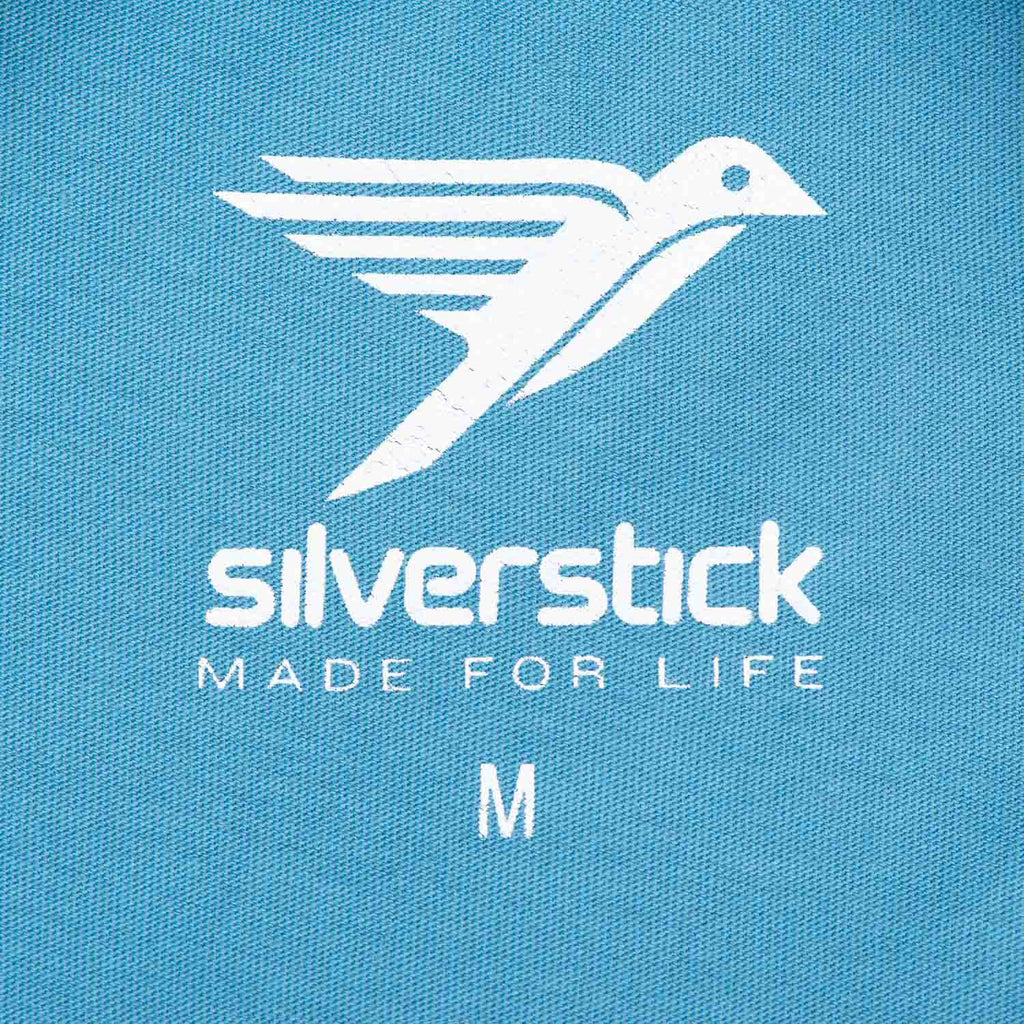 Silverstick Mens Organic Cotton T Shirt Adriatic Neck Label
