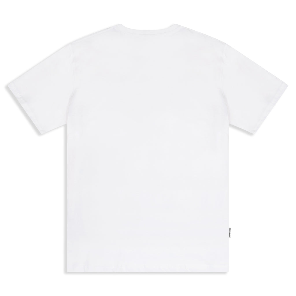 Silverstick Mens Blank Organic Cotton T Shirt White Back