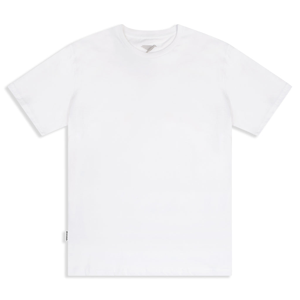 Silverstick Mens Blank Organic Cotton T Shirt White Front