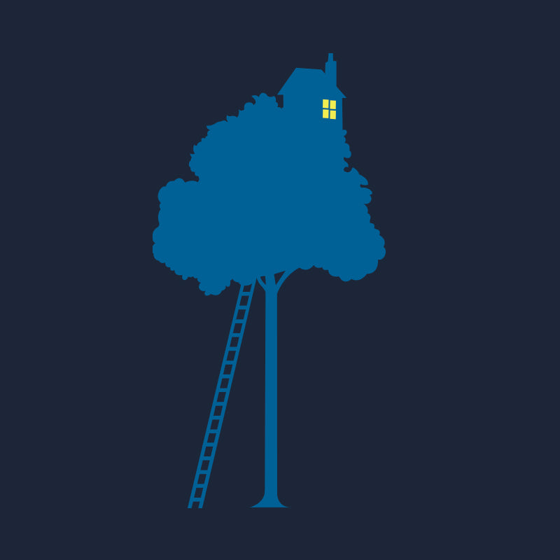 silverstick mens organic cotton treehouse navy t shirt graphic