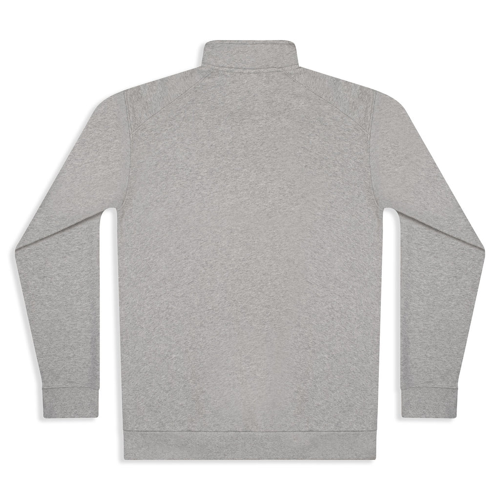 Silverstick Mens Nevis Organic Cotton Quarter Zip Sweat Ash Marl Back