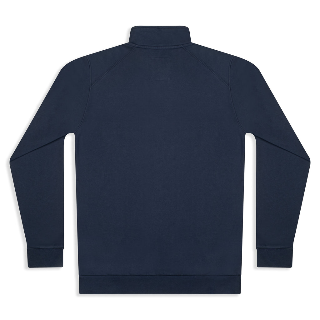 Silverstick Mens Nevis Organic Cotton Quarter Zip Sweat Navy Back