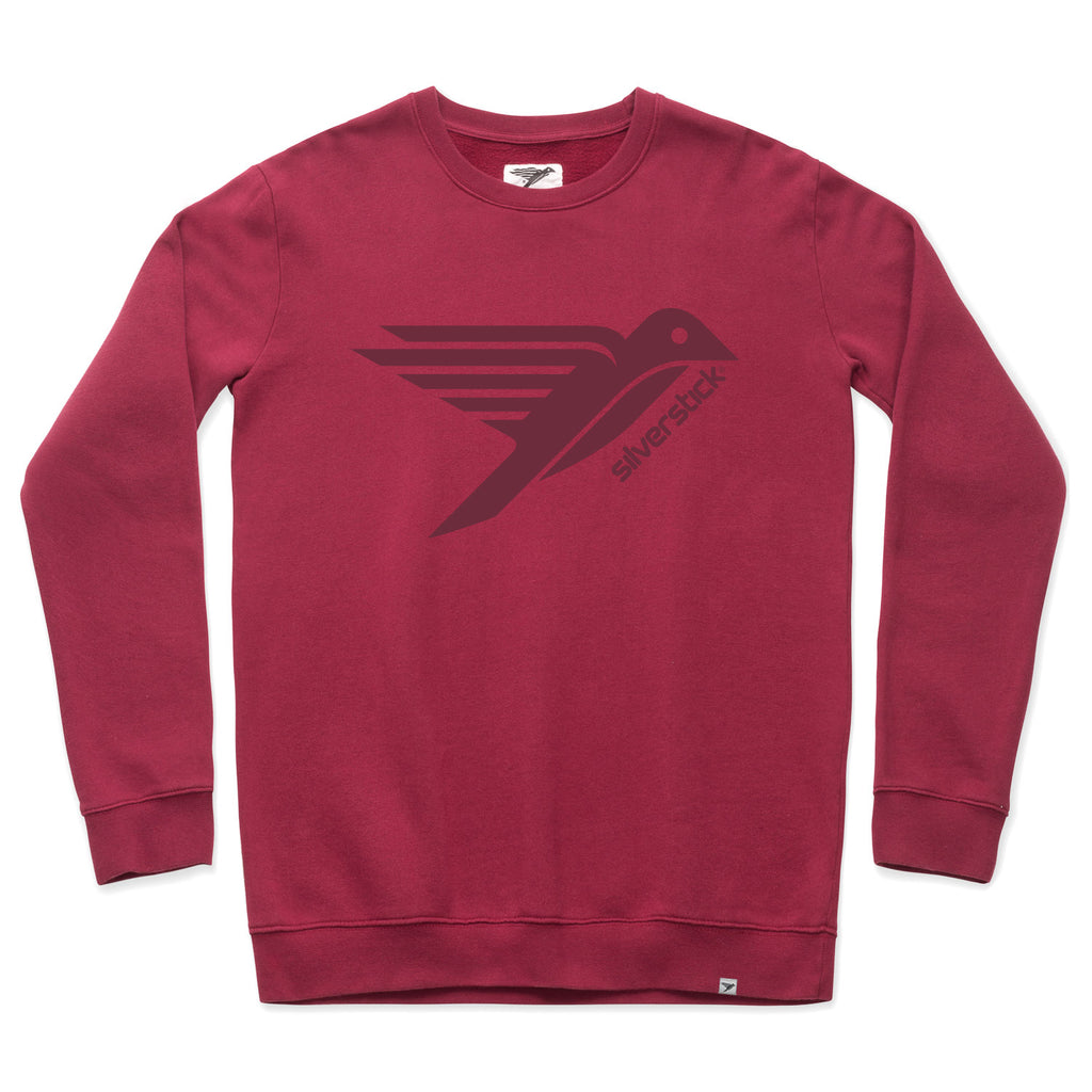 silverstick men organic cotton sweat arugam logo beaujolais