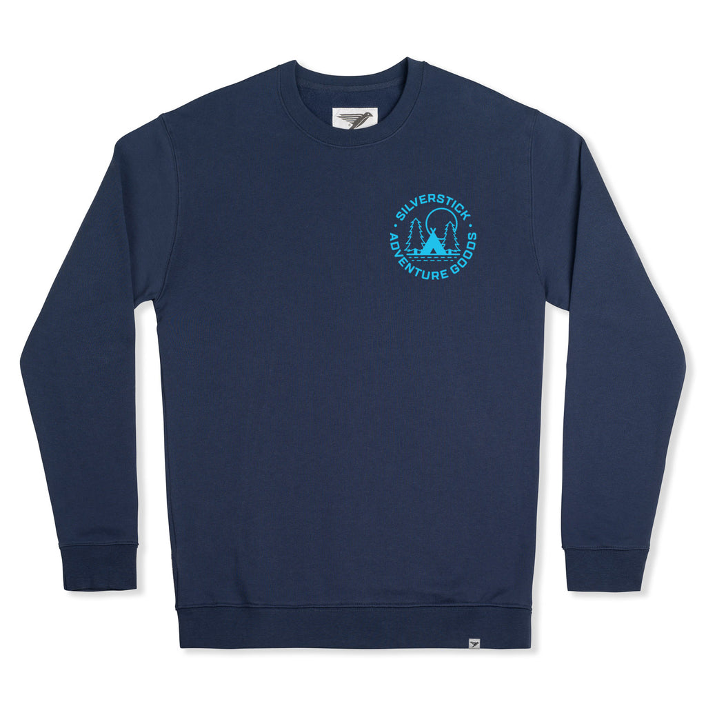 silverstick organic cotton adventure goods roundel navy sweat front