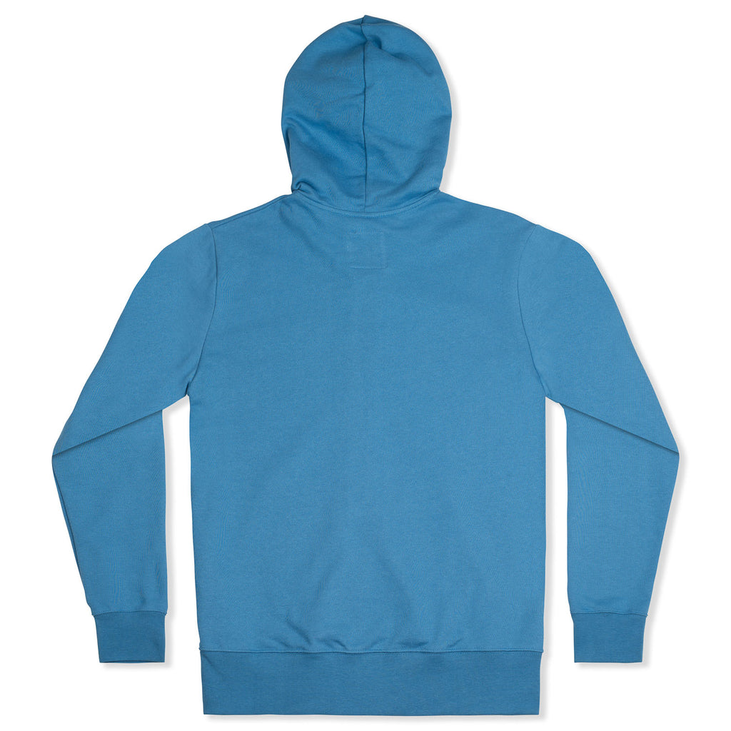 silverstick womens organic cotton tobias ocean blue zip hoodie back