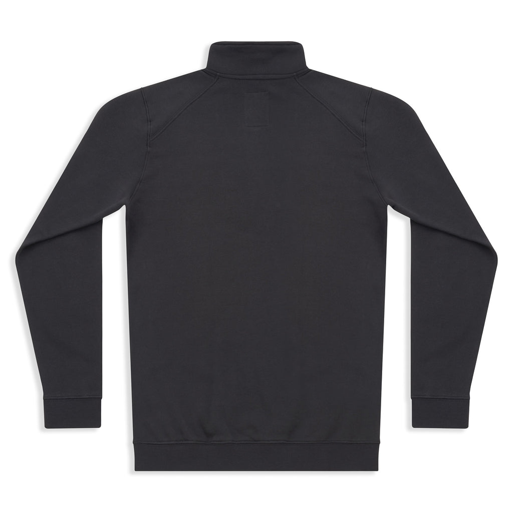 Silverstick Mens Nevis Organic Cotton Quarter Zip Sweat Charcoal Back
