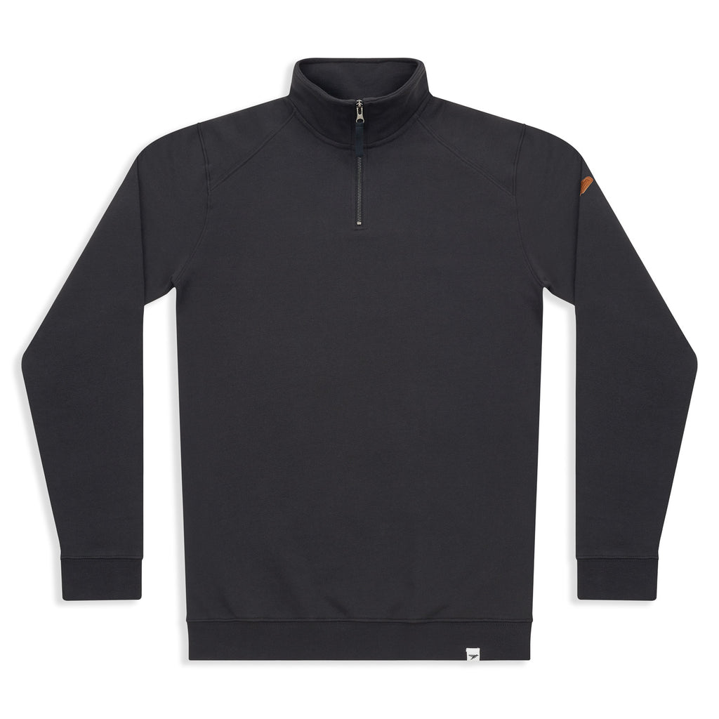 Silverstick Mens Nevis Organic Cotton Quarter Zip Sweat Charcoal Front