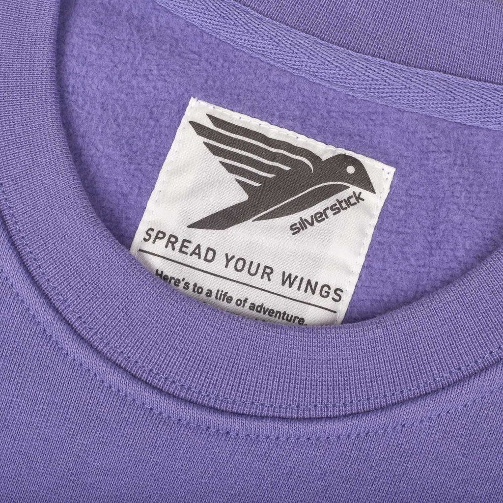silverstick womens organic cotton sweat arugam purple neck label