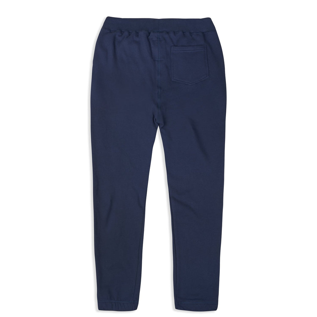 silverstick mens organic cotton johnson navy sweatpant back