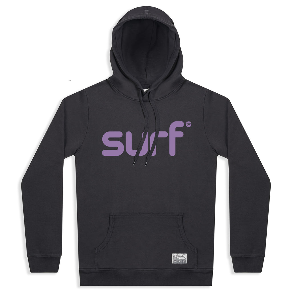 silverstick womens organic cotton hoodie lancelin surf charcoal