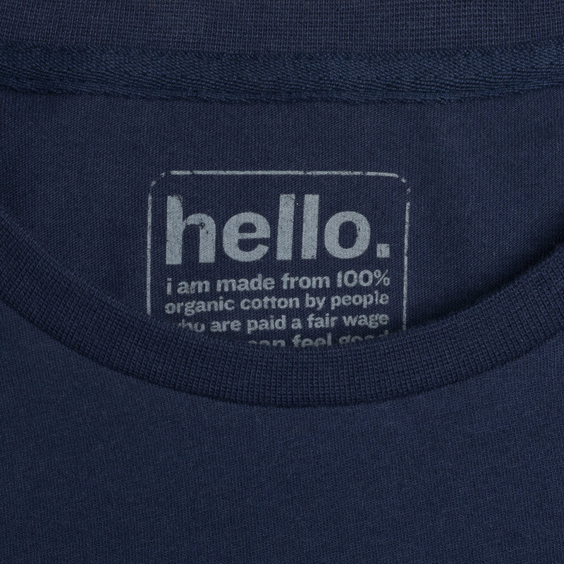 silverstick womens organic cotton blank navy boxy t shirt label