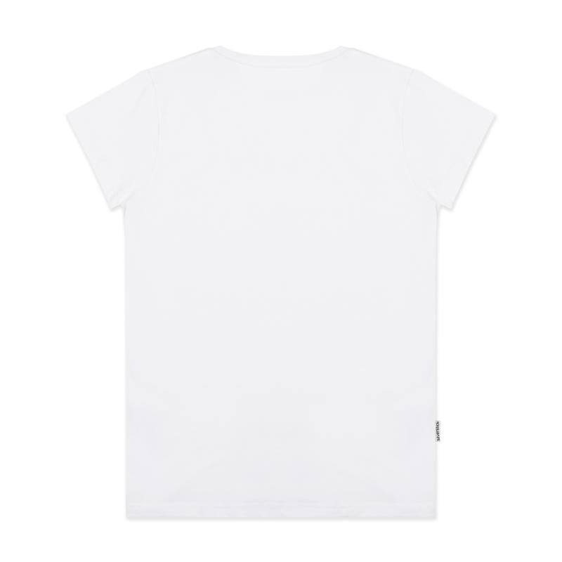 Silverstick Women Adventure Lightweight Organic Cotton T Shirt Blank White Back