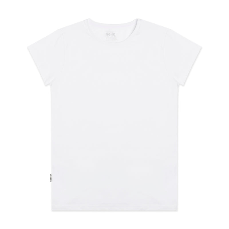 Silverstick Women Lightweight Adventure Organic Cotton T Shirt Blank White