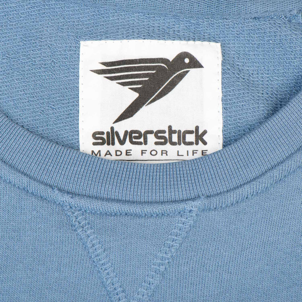 Silverstick Womens Beau Organic Cotton Sweatshirt Denim Neck Label