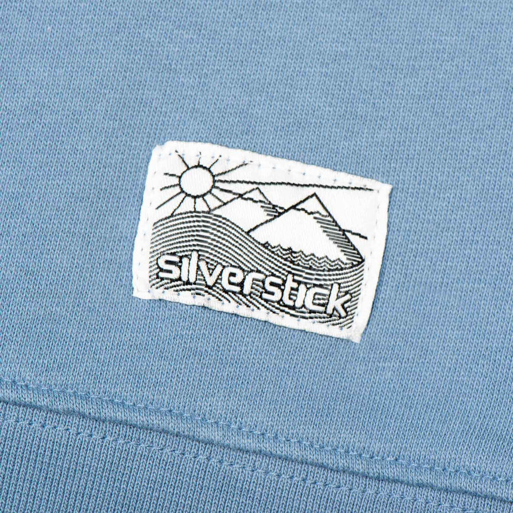 Silverstick Womens Beau Organic Cotton Sweatshirt Denim Patch Label